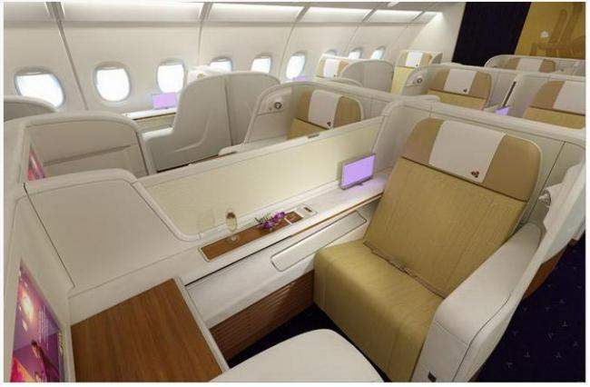 First look thai airways a380 interior for A380 air france interieur